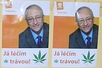 Nelegální plakáty v Litoměřicích.