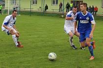 Hrobecký Polák v duelu proti FK Louny.