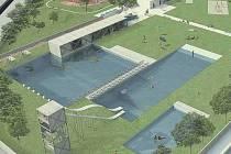 PRVNÍ TŘI. Na návrzích, které Lovosice od studentek ČVUT zatím obdržely, nechybí skluzavky, tobogány a řada jiných atrakcí. Podmínkou bylo zachovat betonový monolit bazénu. Náklady na proměnu areálu se přesto mají vyšplhat do desítek milionů korun.