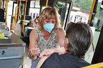 Očkovací autobus na výstavišti v Litoměřicích