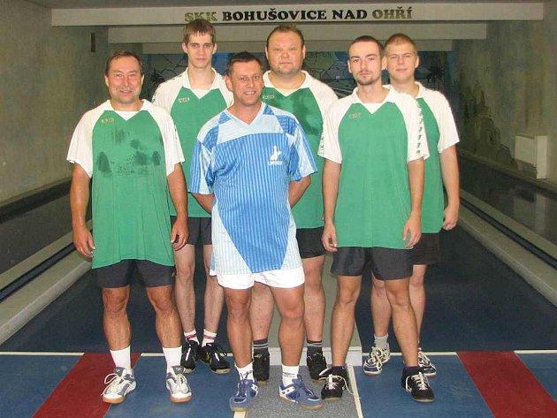 DIVIZE. Zleva Miroslav Šnejdar st., Martin Perníček, Ladislav Zalabák, Jaroslav Ondráček, Tomáš Svoboda, Jaromír Hnát.