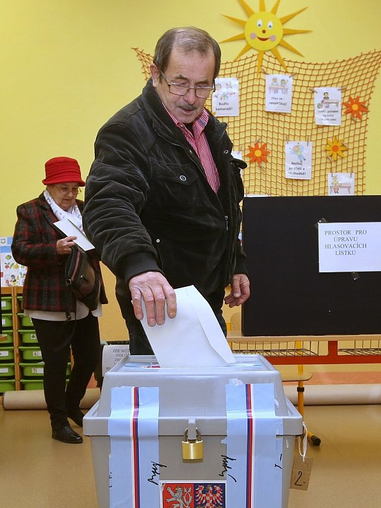 Prezidentské volby v Třebenicích na Lovosicku. Sobota 13. ledna