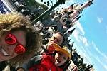 Po cestě na závody v Le Mans se Adam Lacko stavil s rodinou v Disneylandu.
