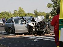 Dopravní nehoda u Doksan na dálnici D8.