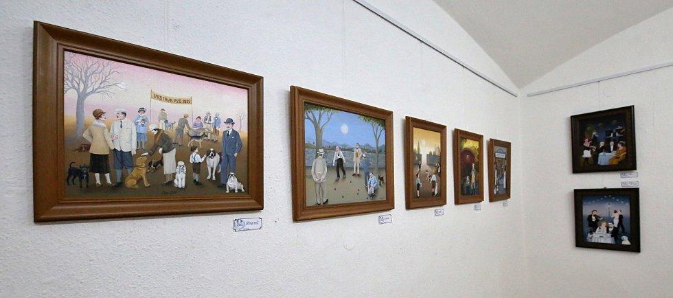 Úštěcká Galerie U brány vystavuje obrázky Ivy Hüttnerové