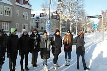 Ve švédském Ostersundu si lovosičtí gymnazisté užili opravdovou zimu.