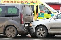 Dopravní nehoda v Litoměřicích.