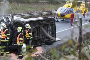 Tragická hromadná nehoda na dálnici D8 u Lukavce