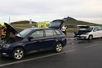 Dopravní nehoda u Klapého na Lovosicku