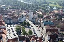 Letecký pohled na Litoměřice.