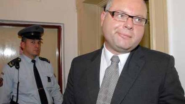 Ivan Drnek u litoměřického soudu.