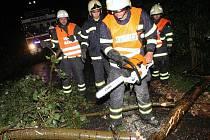 Zásah hasičů na Třebenicku.