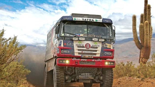 SNEM JE USPĚT NA DAKARU. Buggyra spolupracovala s Tatrou už na letošním Dakaru, jejich kamion závod nedokončil.