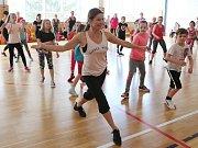 Děti na ZŠ Ladova Litoměřice cvičily s Olgou Šípkovou.