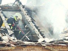 Požár domu. Ilustrační foto