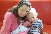 Jitce a Milanu Patzakovým z Litoměřic se 12.7. v 9.58 hodin narodil  v Litoměřicích syn Ondřej Patzak. Měřil 50 cm a vážil 3,33 kg. Na snímku i s bratrem Michalem.
