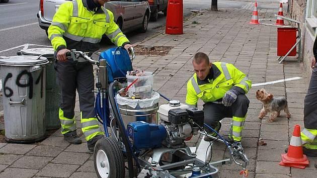 Značení cyklotras v Roudnici.