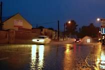 Vydatné deště na Litoměřicku - úterý 8.7.