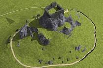 MODEL HRADU OLTAŘÍK. Veřejnosti budou představeny 3D modely hradů Českého středohoří.