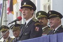 Hasičské slavnosti 2004, které navštívil i tehdejší ministr vnitra Stanislav Gross.