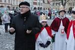 Žehnání tříkrálovým koledníkům v Litoměřicích.