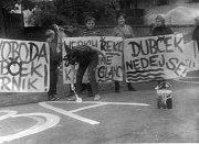 Srpen 1968 v Zahořanech.