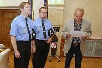 Strážníci byli oceneni na litoměřické radnici