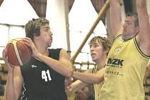Litoměřičtí basketbalisté v akci.