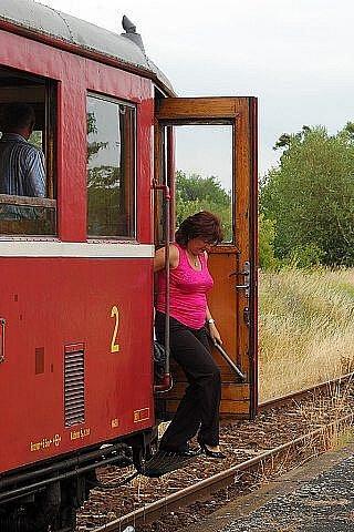 Zahájení prázdninového provozu na Švestkové dráze.