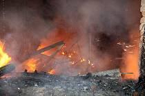Nedělní požár v Sulejovicích