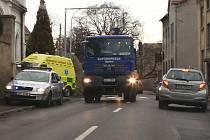 Dopravní nehoda automobilu s chodcem u hřbitova v Litoměřicích