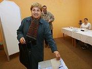 Prezidentské volby v Terezíně na Litoměřicku. Sobota 13. ledna