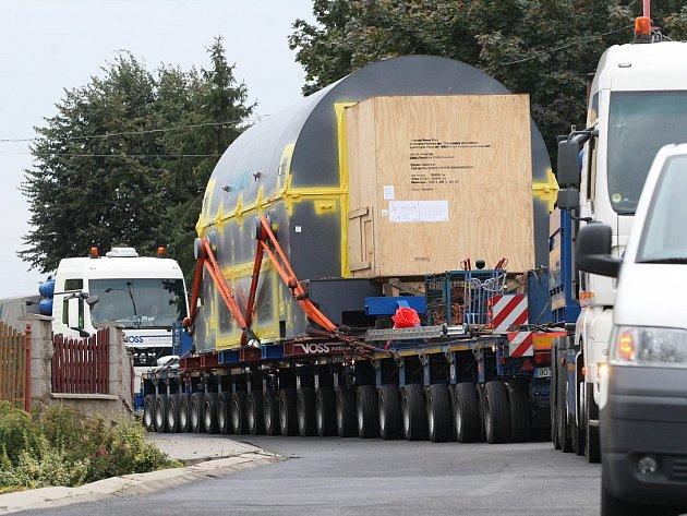 Přeprava nadměrného nákladu na Litoměřicku, ilustrační foto.