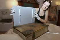 """ZAJÍMAVOSTÍ je, že kniha užívá dvojí pravopis. Byla psána spřežkovým pravopisem, později byl však text místy vyškrábán a opraven novým """"modernizovaným"""" diakritickým pravopisem, jehož zavedení je spojováno s univerzitním prostředím a osobou Jana Husa"""