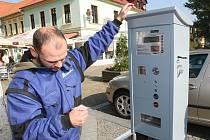 Parkovací automaty v Lovosicích.