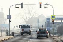 Semafory v Hoštce.