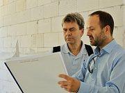 Manažer geotermálního projektu Antonín Tym (vpravo)