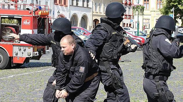 Den IZS na litoměřickém Mírovém náměstí