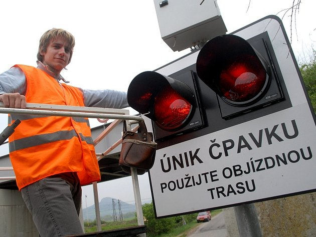 Výstražné signalizační zařízení v Lovosicích.