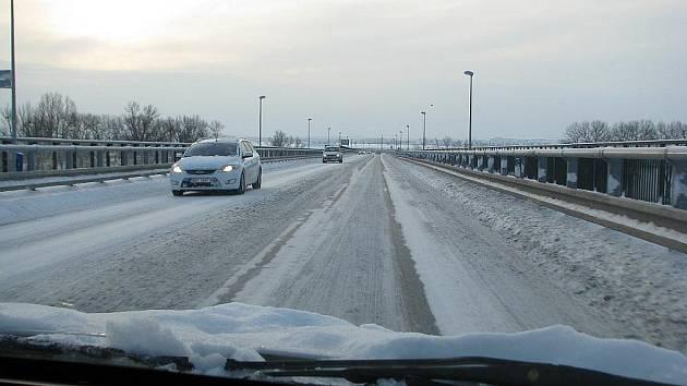 Most gen. F. Chábery  - čtvrtek 2. prosince 2010 dopoledne.