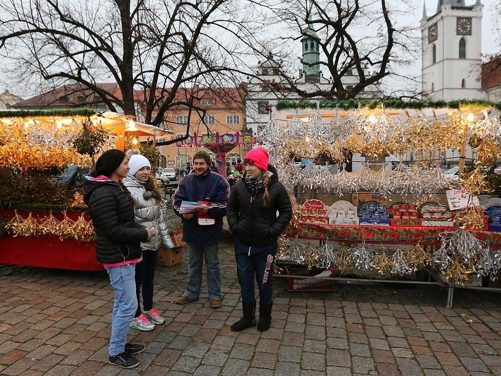 1. prosinec na náměstí v Litoměřicích