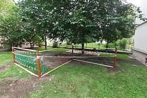 Práce na pozemních Masarykovy základní školy