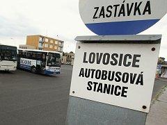 Autobusové nádraží v Lovosicích.
