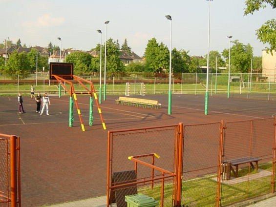Školní hřiště Masarykovy základní školy v Litoměřicích.