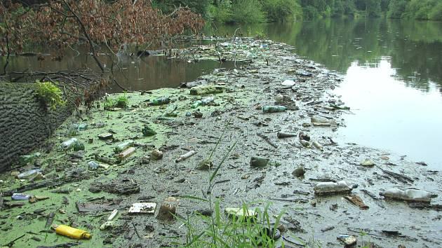 """Padlý dub """"Na Hraběcím"""" ukazuje, co jsou lidé schopni vyhodit do řeky Ohře"""