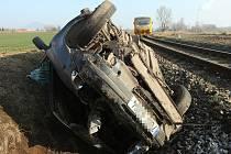 Vážná nehoda na železniční trati Lovosice - Louny.