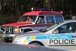 Místo dopravní nehody nad Velemínem.