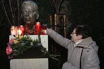 Vzpomínka na Václava Havla v jeho parku v Litoměřicích