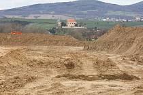 Těžba u Počapel.