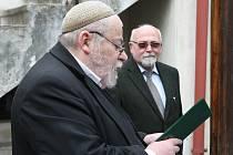 V Terezíně vzpomněli na oběti holokaustu.